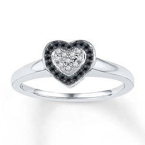 Black Diamond Ring (8.5) - 1/8 Ct Tw